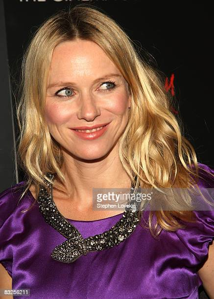 Actress Naomi Watts attends a screening of Filth and Wisdom hosted by The Cinema Society and Dolce and Gabbana at the IFC Center on October 13 2008...