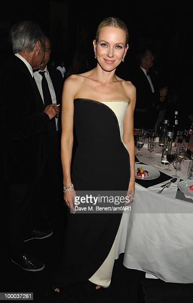 Actress Naomi Watts attends amfAR's Cinema Against AIDS 2010 benefit gala dinner at the Hotel du Cap on May 20, 2010 in Antibes, France.