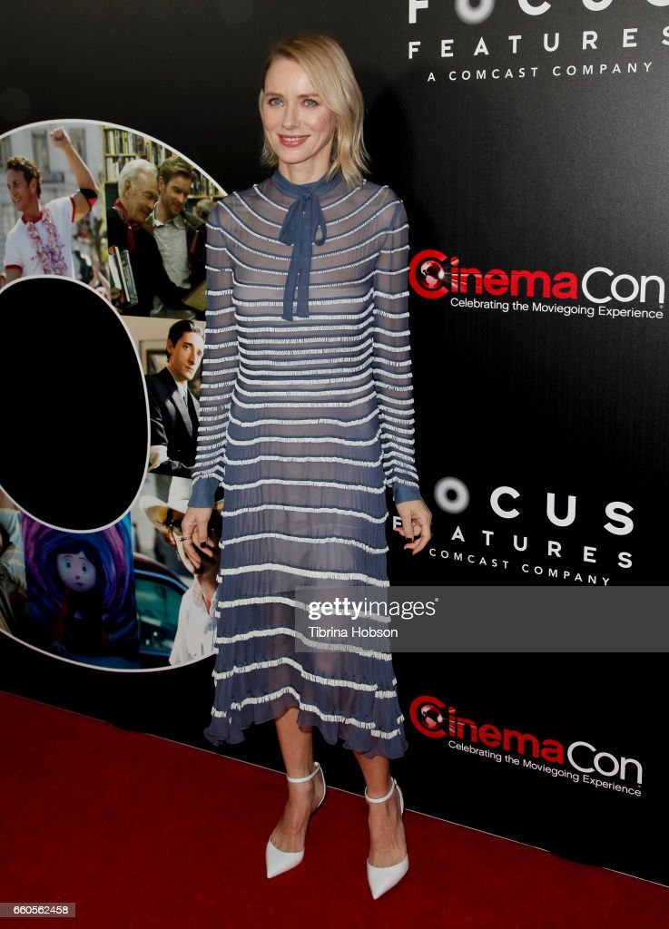 Actress Naomi Watts attends Focus Features luncheon and studio program celebrating 15 Years during CinemaCon 2017 at Caesars Palaceon March 29, 2017 in Las Vegas, Nevada.