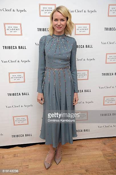 Actress Naomi Watts attends New York Academy Of Art's Tribeca Ball 2016 on April 4 2016 in New York City