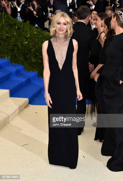 Actress Naomi Watts attends Rei Kawakubo/Comme des Garcons Art Of The InBetween Costume Institute Gala at Metropolitan Museum of Art on May 1 2017 in...