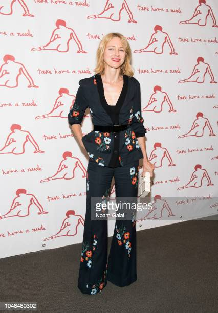 Actress Naomi Watts attends Take Home A Nude New York Academy of Art benefit at Sotheby's on October 9 2018 in New York City