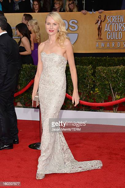 Actress Naomi Watts attends the 19th Annual Screen Actors Guild Awards at The Shrine Auditorium on January 27 2013 in Los Angeles California...