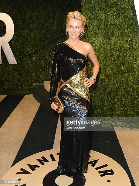 Actress Naomi Watts attends the 2013 Vanity Fair Oscar party at Sunset Tower on February 24 2013 in West Hollywood California