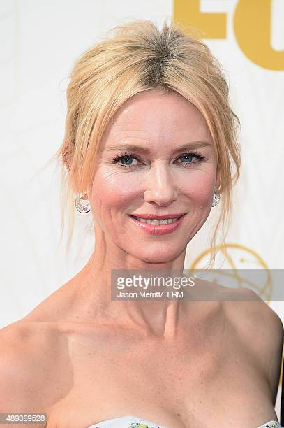 Actress Naomi Watts attends the 67th Annual Primetime Emmy Awards at Microsoft Theater on September 20 2015 in Los Angeles California