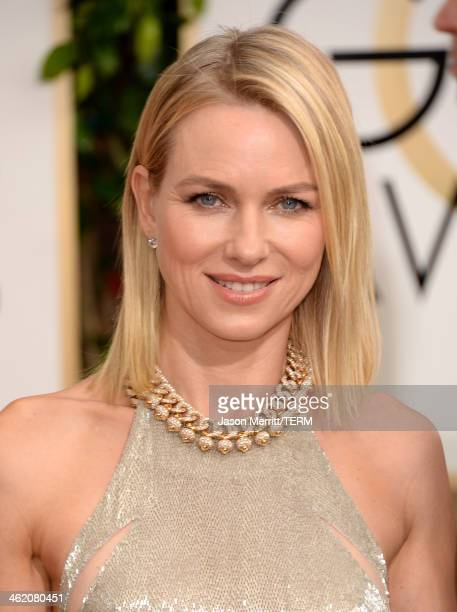 Actress Naomi Watts attends the 71st Annual Golden Globe Awards held at The Beverly Hilton Hotel on January 12 2014 in Beverly Hills California