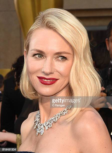 Actress Naomi Watts attends the 88th Annual Academy Awards at the Hollywood Highland Center on February 28 2016 in Hollywood California