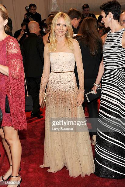 Actress Naomi Watts attends the Alexander McQueen Savage Beauty Costume Institute Gala at The Metropolitan Museum of Art on May 2 2011 in New York...