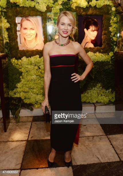 Actress Naomi Watts attends the BVLGARI Decades Of Glamour Oscar Party Hosted By Naomi Watts at Soho House on February 25 2014 in West Hollywood...