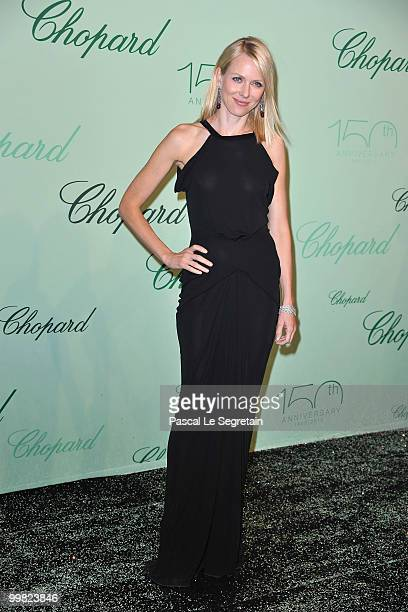 Actress Naomi Watts attends the Chopard 150th Anniversary Party at Palm Beach Pointe Croisette during the 63rd Annual Cannes Film Festival on May 17...