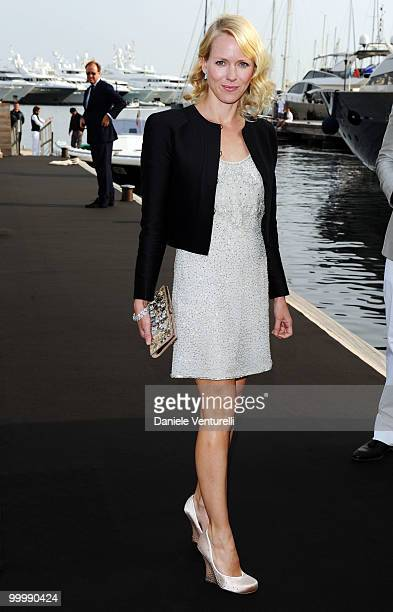 Actress Naomi Watts attends the Fair Game Cocktail Party hosted by Giorgio Armani held aboard his boat 'Main' during the 63rd Annual International...