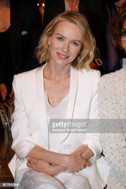 Actress Naomi Watts attends the Giorgio Armani Prive Haute Couture Fall/Winter 20172018 show as part of Haute Couture Paris Fashion Week on July 4...