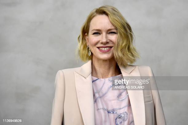 Actress Naomi Watts attends the Giorgio Armani women's Fall/Winter 2019/2020 collection fashion show on February 23 2019 in Milan