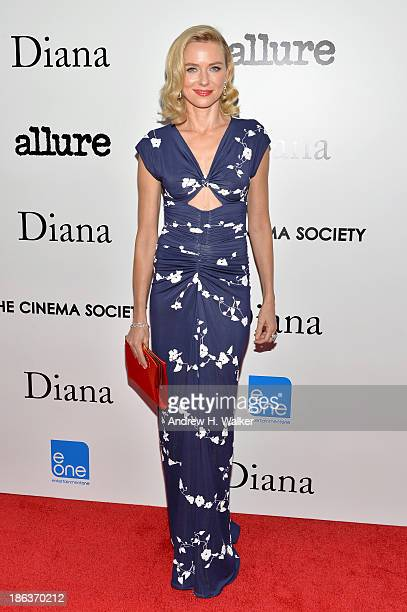 Actress Naomi Watts attends the screening of Entertainment One's Diana hosted by The Cinema Society With Linda Wells and Allure Magazine at SVA...