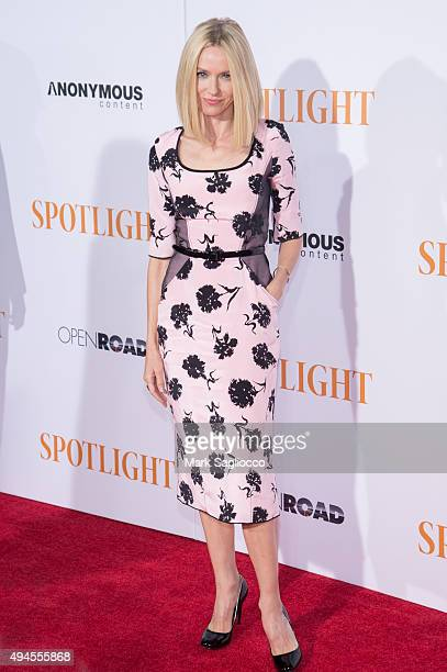 "Actress Naomi Watts attends the ""Spotlight"" New York premiere at Ziegfeld Theater on October 27, 2015 in New York City."