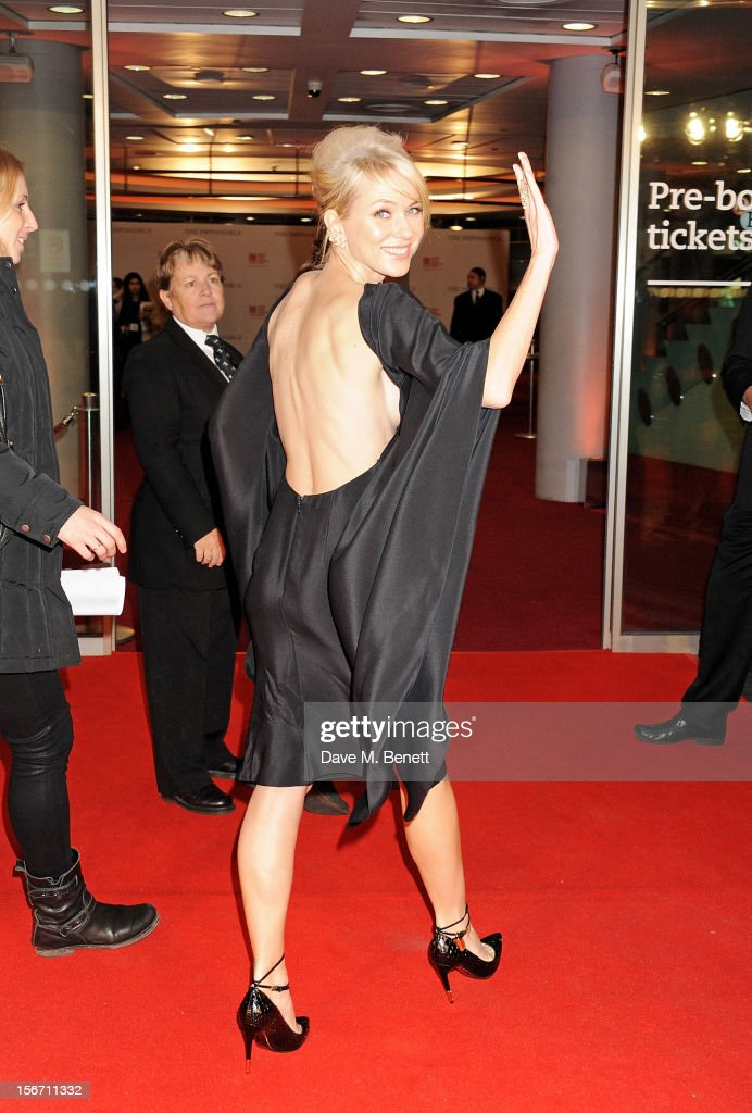 Actress Naomi Watts attends the UK charity premiere of 'The Impossible' at BFI IMAX on November 19, 2012 in London, England.