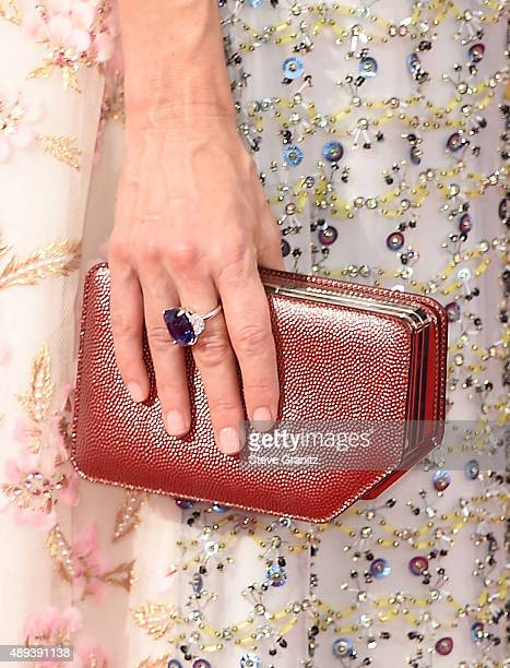 Actress Naomi Watts clutch and ring detail attends the 67th Annual Primetime Emmy Awards at Microsoft Theater on September 20 2015 in Los Angeles...