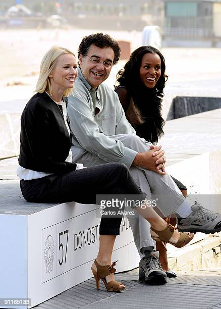 Actress Naomi Watts director Rodrigo Garcia and actress Kerry Washington attend the photocall for 'Mother and Child' during the 57th San Sebastian...