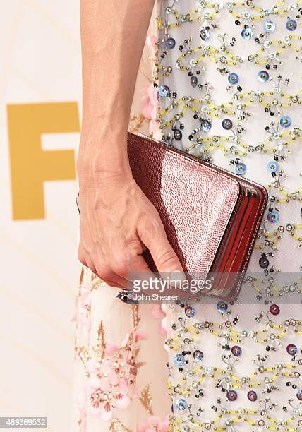Actress Naomi Watts fashion detail attends the 67th Annual Primetime Emmy Awards at Microsoft Theater on September 20 2015 in Los Angeles California