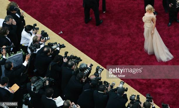 Actress Naomi Watts is photographed as she arrives at the 78th Annual Academy Awards at the Kodak Theatre March 5 2006 in Hollywood California