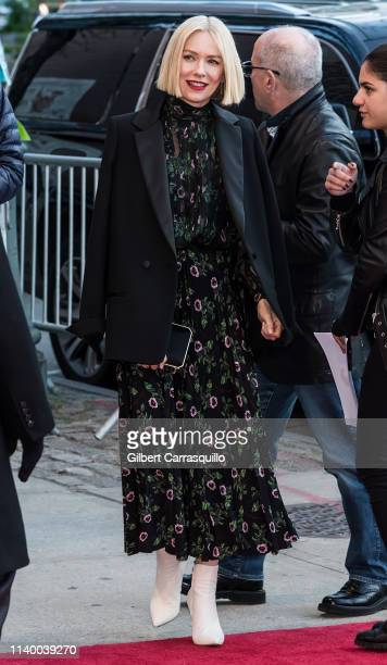 Actress Naomi Watts is seen arriving to the 'Luce' screening during the 2019 Tribeca Film Festival at BMCC Tribeca PAC on April 28 2019 in New York...