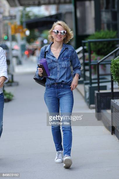 Actress Naomi Watts is seen on September 19 2017 in New York City