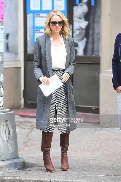 Actress Naomi Watts is seen walking in Soho on September 28 2016 in New York City