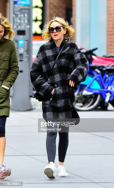 Actress Naomi Watts is sen walking in soho on April 11 2019 in New York City
