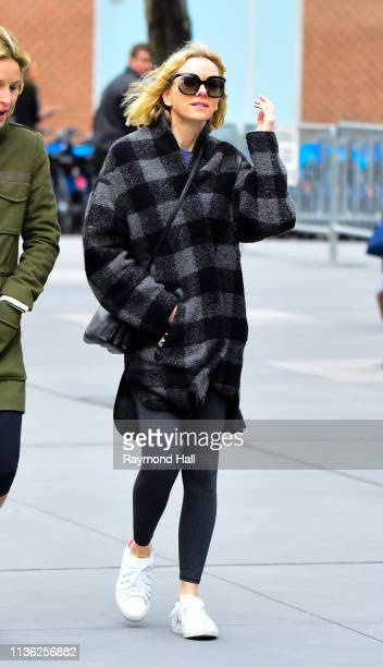 Actress Naomi Watts is sen walking in soho on April 11 2019 in New York City
