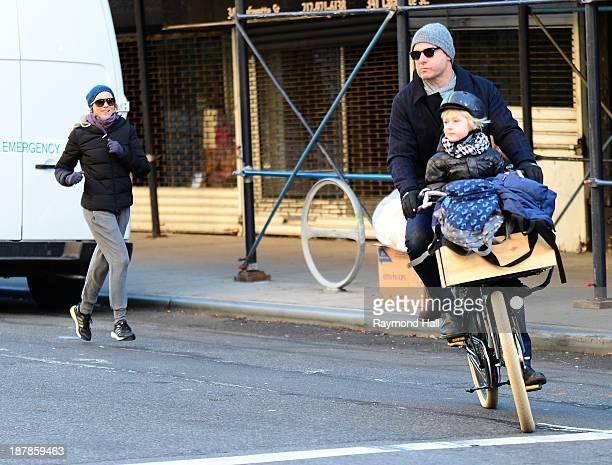 Actress Naomi Watts Liev Schreiber Alexander Schreiber and Samuel Schreiber are seen in Soho on November 13 2013 in New York City