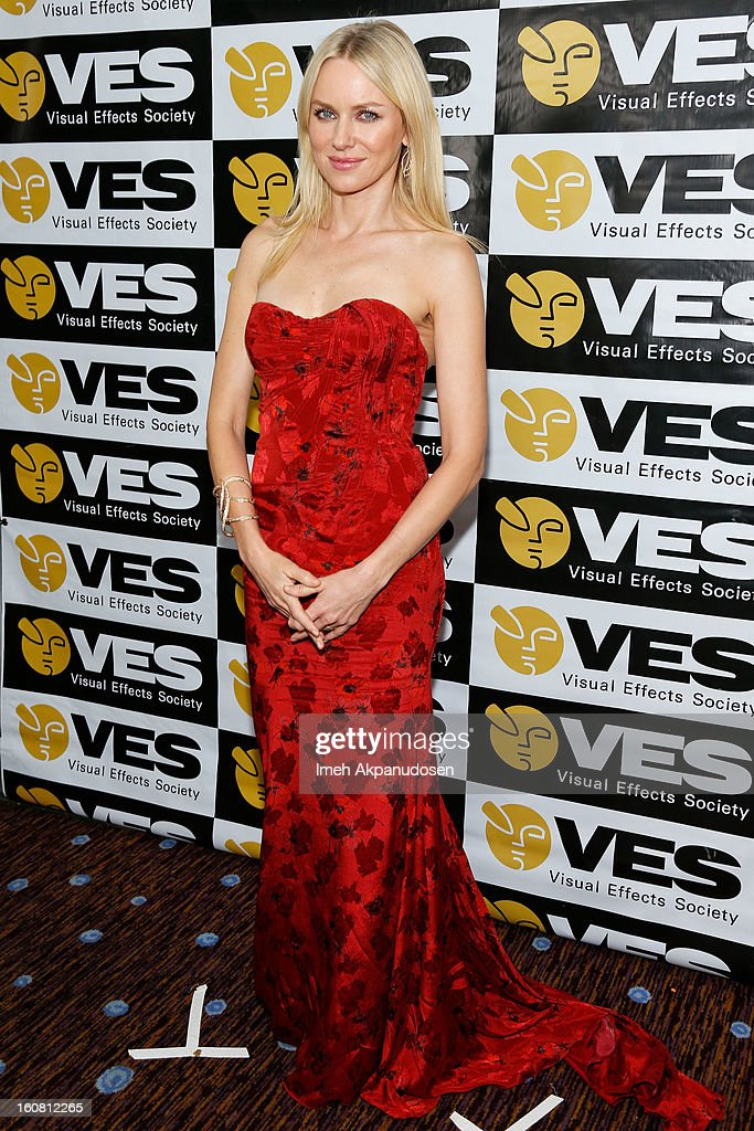 Actress Naomi Watts poses backstage at the 11th Annual Visual Effects Society Awards at The Beverly Hilton Hotel on February 5, 2013 in Beverly Hills, California.