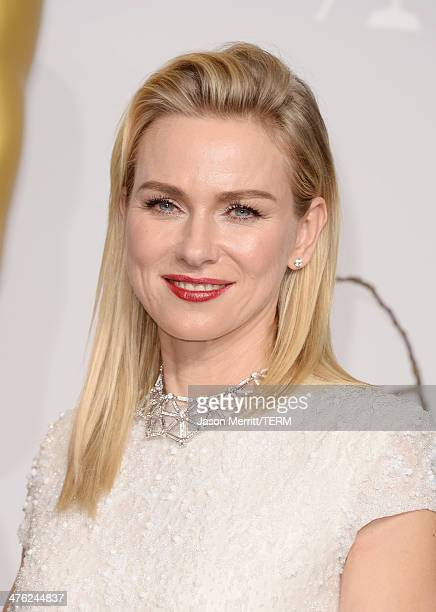 Actress Naomi Watts poses in the press room during the Oscars at Loews Hollywood Hotel on March 2 2014 in Hollywood California