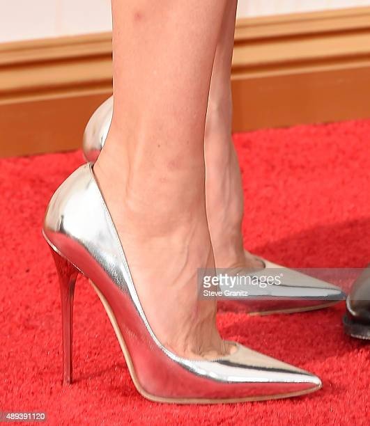 Actress Naomi Watts shoe detail attends the 67th Annual Primetime Emmy Awards at Microsoft Theater on September 20 2015 in Los Angeles California