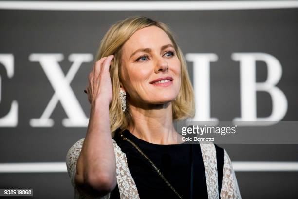 Actress Naomi Watts speaks at the Cartier The Exhibition Media Preview at the National Gallery of Australia on March 28 2018 in Canberra Australia