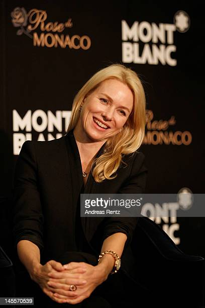 Actress Naomi Watts speaks during interviews for the official opening of the Montblanc Sanlitun Concept Store held at the JW Marriott Hotel Beijing...
