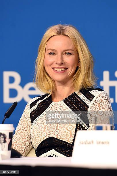 Actress Naomi Watts speaks onstage during the 'Demolition' press conference at the 2015 Toronto International Film Festival at TIFF Bell Lightbox on...