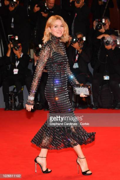 Actress Naomi Watts walks the red carpet ahead of the 'At Eternity's Gate' screening during the 75th Venice Film Festival at Sala Grande on September...