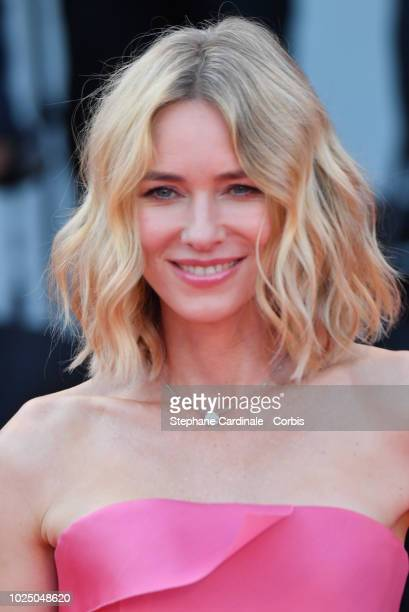 Actress Naomi Watts walks the red carpet ahead of the opening ceremony and the 'First Man' screening during the 75th Venice Film Festival at Sala...