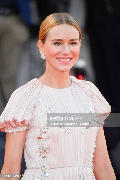 Actress Naomi Watts walks the red carpet ahead of the 'Roma' screening during the 75th Venice Film Festival at Sala Grande on August 30 2018 in...