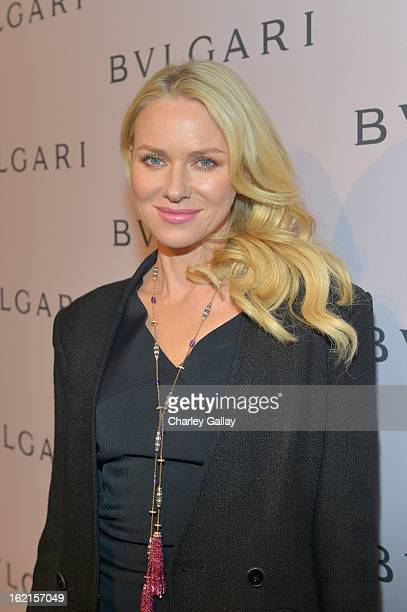 Actress Naomi Watts wearing BVLGARI arrives at the BVLGARI celebration of Elizabeth Taylor's collection of BVLGARI jewelry at BVLGARI Beverly Hills...