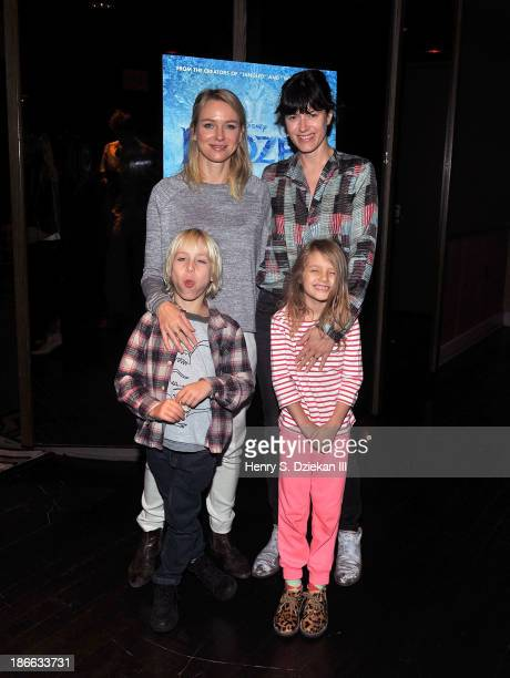 Actress Naomi Watts with son Alexander Schreiber and Sunrise Coigney with daughter Odette Ruffalo attend the Disney The Cinema Society screening of...