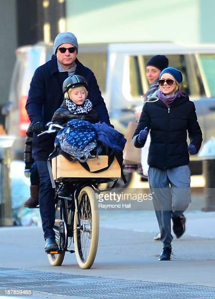 Actress Naomi WattsLiev Schreiber Alexander Schreiber and Samuel Schreiber are seen in Soho on November 13 2013 in New York City