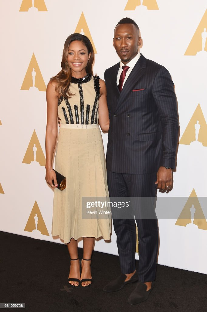 Actress Naomie Harris (L) and actor Mahershala Ali attend the 89th Annual Academy Awards Nominee Luncheon at The Beverly Hilton Hotel on February 6, 2017 in Beverly Hills, California.