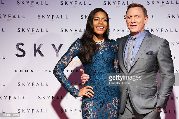 Actress Naomie Harris and Daniel Craig attend 'Skyfall' Rome premiere at The Space Moderno on October 26, 2012 in Rome, Italy.