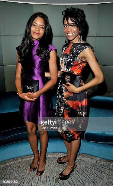 Actress Naomie Harris and singer Michelle Williams attend the Ndoro Children's Charities fundraising gala at Dorchester Hotel on September 17, 2009...
