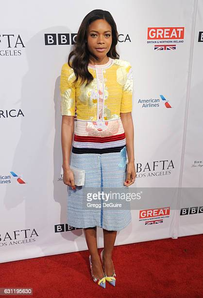 Actress Naomie Harris arrives at The BAFTA Tea Party at Four Seasons Hotel Los Angeles at Beverly Hills on January 7 2017 in Los Angeles California