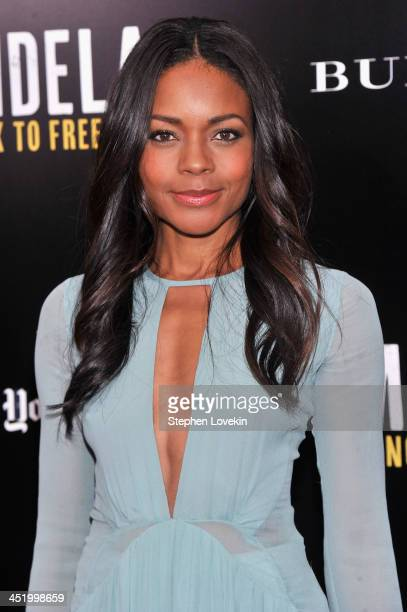 """Actress Naomie Harris attends a screening of """"Mandela: Long Walk to Freedom"""", hosted by U2, Anna Wintour and Bob & Harvey Weinstein, with Burberry at..."""