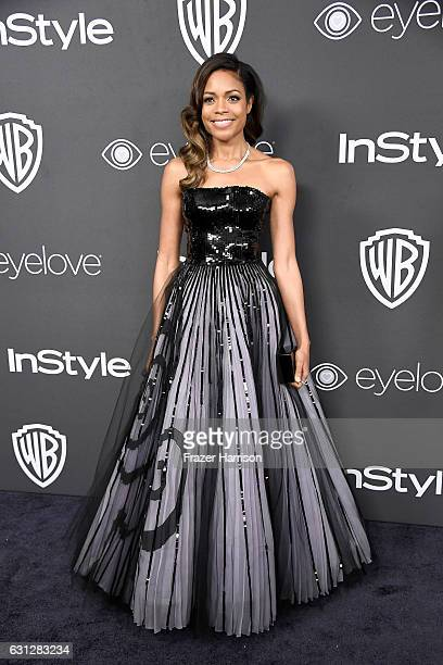 Actress Naomie Harris attends the 18th Annual PostGolden Globes Party hosted by Warner Bros Pictures and InStyle at The Beverly Hilton Hotel on...