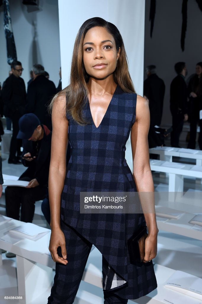 Actress Naomie Harris attends the Calvin Klein Collection Front Row during New York Fashion Week on February 10, 2017 in New York City.