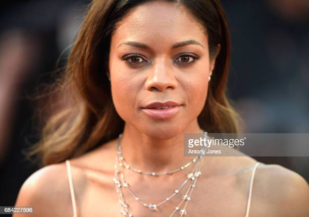 Actress Naomie Harris attends the Ismael's Ghosts screening and Opening Gala during the 70th annual Cannes Film Festival at Palais des Festivals on...